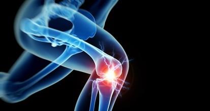 woman having acute pain in the knee