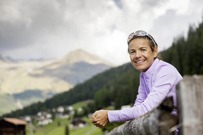 Davos, 10.09.2015 Jasmin Nunige, 6-fache Gewinnerin des Davoser Ultra-Marathons, am Donnerstag, 10. September 2015, in Davos. (Nicola Pitaro)