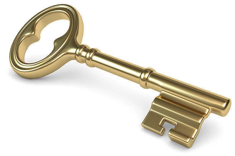 der goldene Schlüssel zum Erfolg