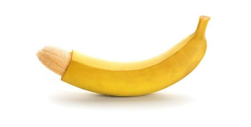 Penis krumm Banane