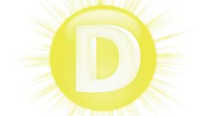 Eine Sonne mit D-Zeichen als Symbol fr Vitamin D