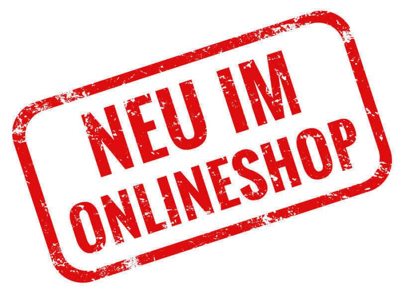 Neu im Onlineshop rot grunge Stempel