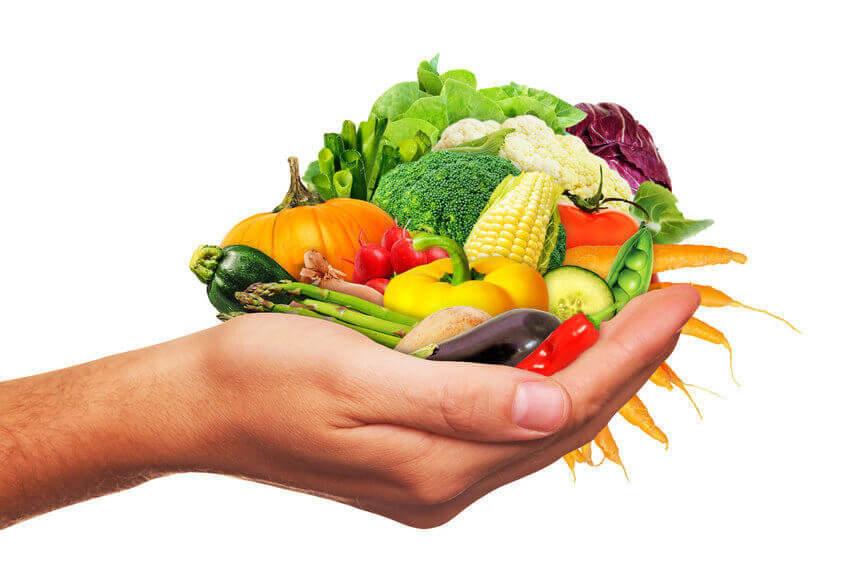 Frisches Gemse in der Hand - Fresh vegetables in the hand