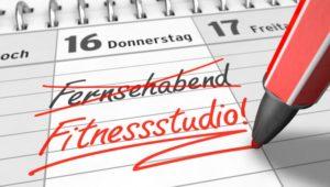 Termin fürs Fitnessstudio in Kalender einschreiben