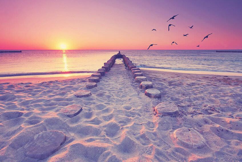 romantischer Blick bers Meer