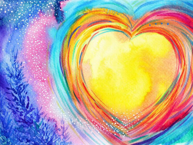 yellow moon heart watercolor painting illustration design valentine wedding symbol