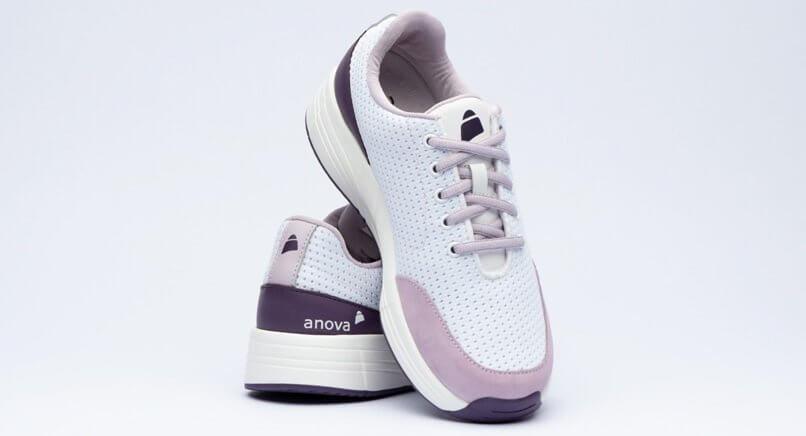 Anova Angelina white bright purple Paar